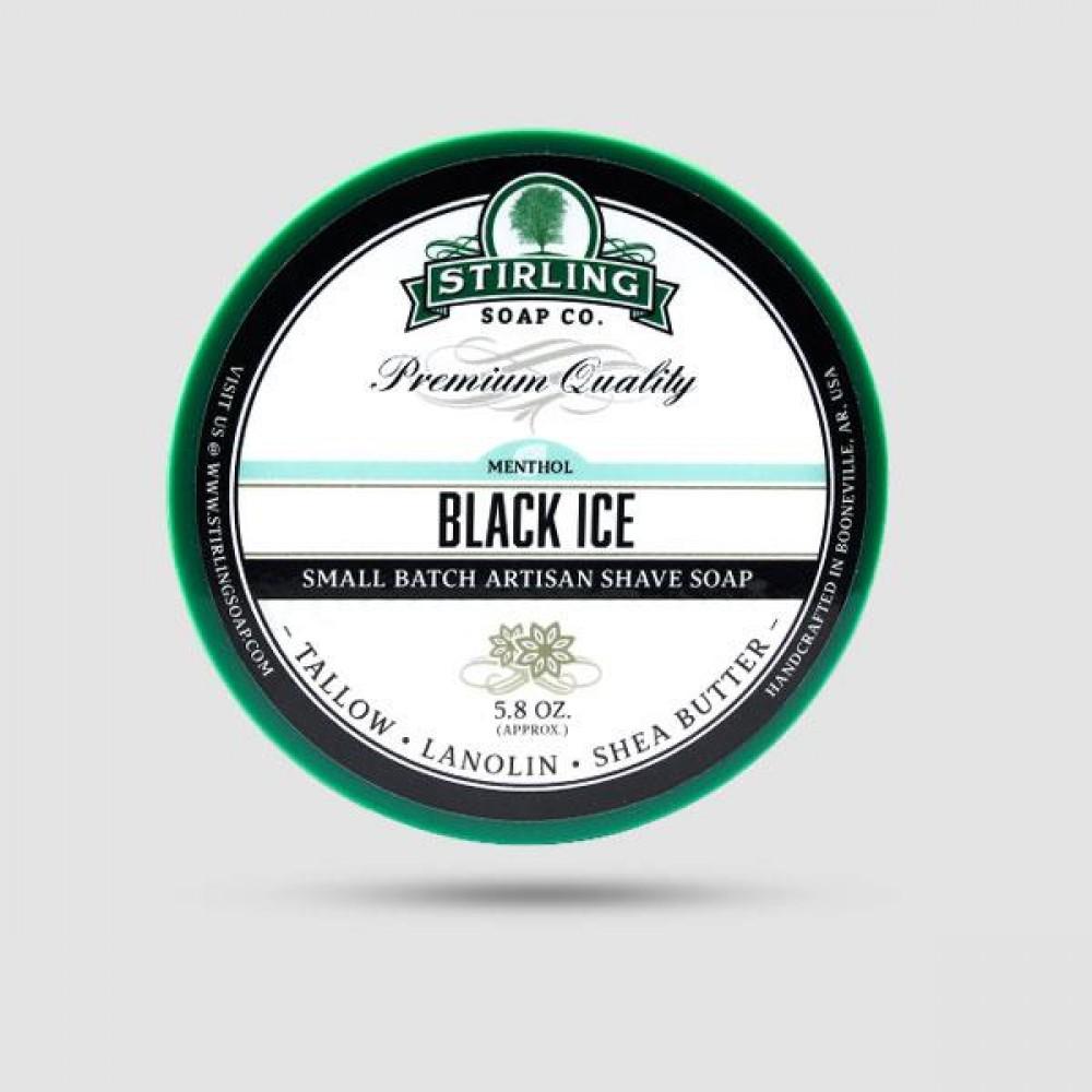 Σαπούνι Ξυρίσματος - Stirling Soap Company - Black Ice 170ml