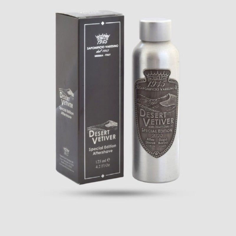 Aftershave Lotion - Saponificio Varesino - Desert Vetiver - in aluminium bottle 125ml