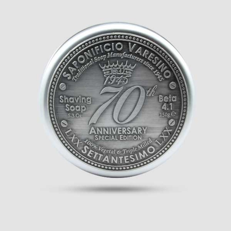 Σαπούνι Ξυρίσματος - Saponificio Varesino - 70th Anniversary in aluminium jar 150gr