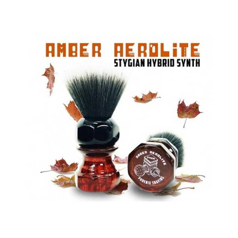 Πινέλο Ξυρίσματος - Phoenix Artisan - Amber Aerolite 24mm