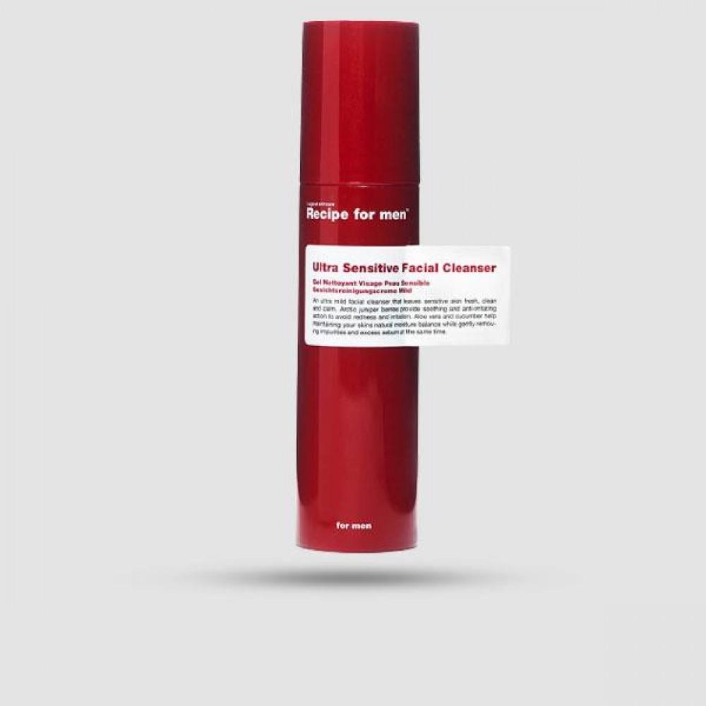 Καθαριστικό Προσώπου - Recipe for Men - Ultra Sensitive Facial Cleanser 100ml