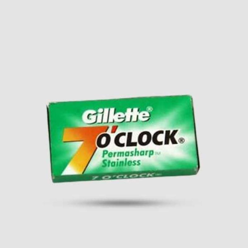 Ανταλλακτικές Λεπίδες Ξυρίσματος - Gillette - 7 O Clock Permasharp Stainless 1 x 10