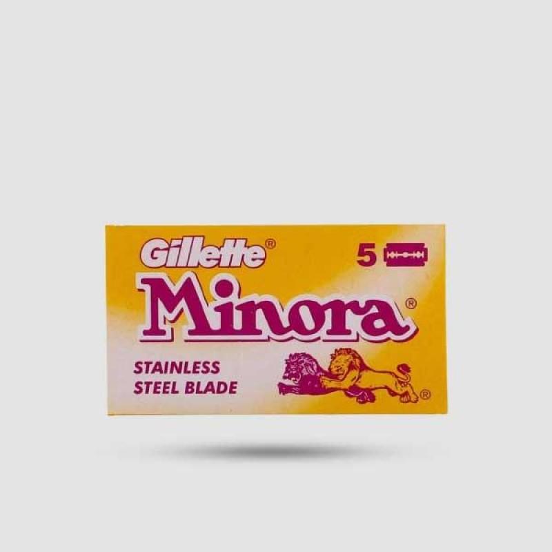 Ανταλλακτικές Λεπίδες Ξυρίσματος - Gillette - Minora 1 X 5