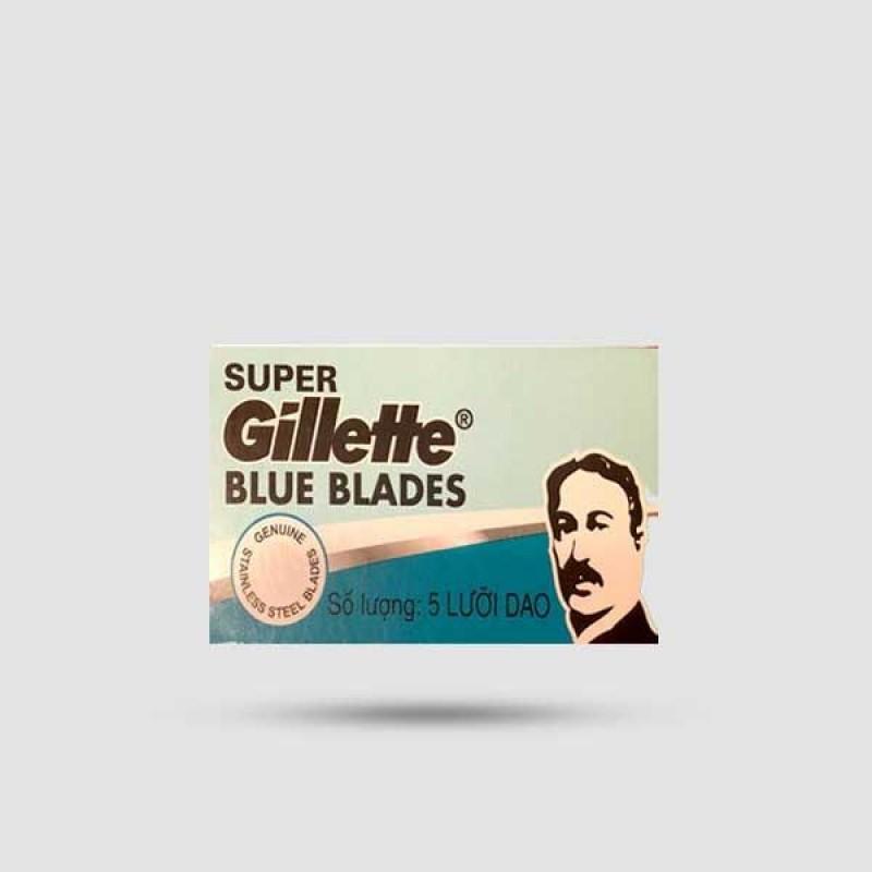 Ανταλλακτικές Λεπίδες Ξυρίσματος - Gillette - Super Blue 1 X 5