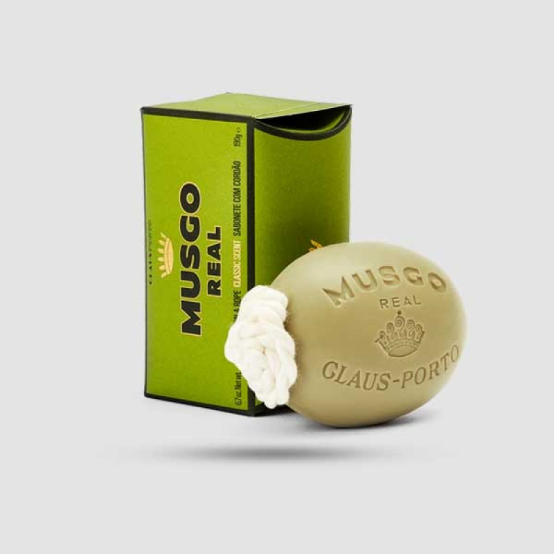 Soap On A Rope - Musgo Real - Classic Scent 190g / 6,7 oz.