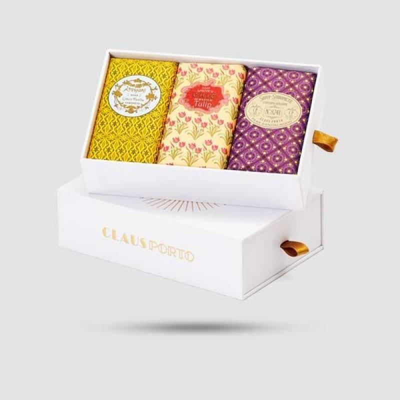 Gift Box - Claus Porto - 3 x Sealed Soap | 8741 / Chic / Lavandre | 150g