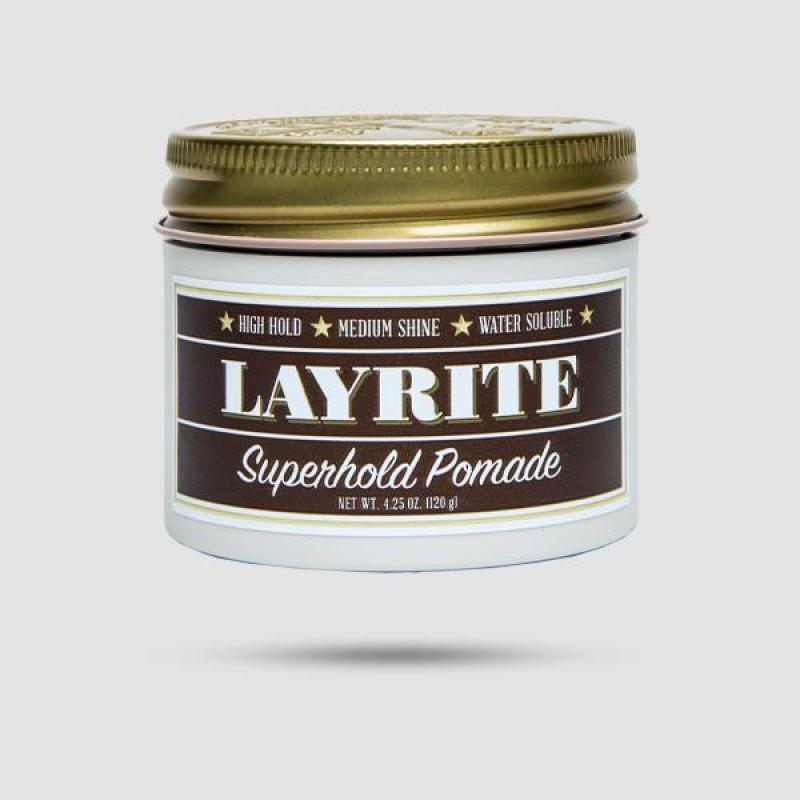 Πομάδα Για Μαλλιά - Layrite - Superhold Pomade 120g